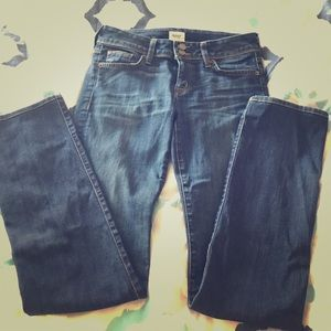 Hudson straight leg jeans with stretch